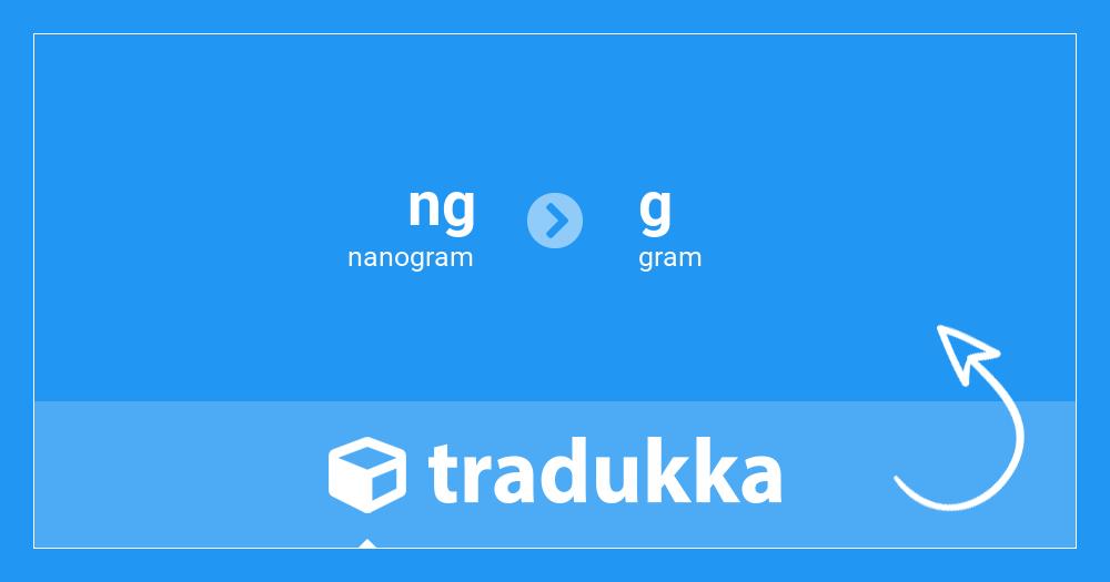 50 Nanogram Ng Till Gram G